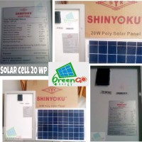 harga Solar cell / panel surya 20WP Shinyoku Tokopedia.com
