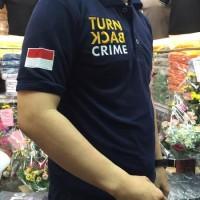 Kaos Turn Back Crime Bordir Depan Belakang POLOS M L XL XXL