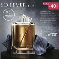 50% So Fever Him Eau De Toilette Oriflame Original Man Perfume EdT Men