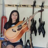 Gitar Akustik Eletrik Samick Gregbenet Tobaco