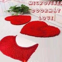 Jual Keset Cendol Bentuk Hati Love Chenile Microfiber Murah