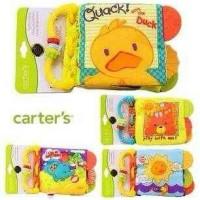 Soft Book Teether carters animal bebek gajah matahari bear buku kain
