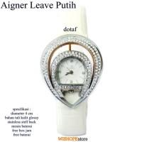 jam tangan kulit agner leave super full set putih