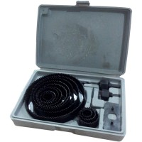Holesaw Kit / Hole Saw Kit / Mata Bor Pelubang Kayu Set 16pc Nankai