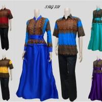 harga Sarimbit gamis batik couple pasangan setelan hem baju kemeja SRG 331 Tokopedia.com
