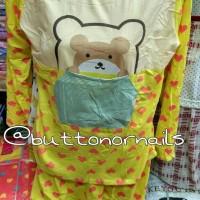 Baju Tidur Piyama Sleepwear Beruang Teddy Bear Love Lucu Murah