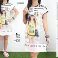 BAJU TIDUR BAHAN ADEM Lembut Dress Motif Fashion Korea Dress Daster