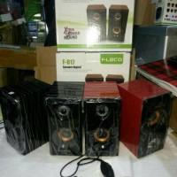 Speaker Fleco F-017 Motif Kayu / Speaker F017
