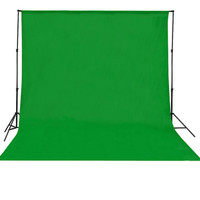 Background Foto Hijau Polos 6x2,7 Meter (Green Screen)