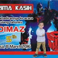 Thank Card Tema kartun Transformer ( Tanpa Minimal Order )