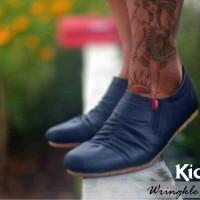 harga Sepatu Casual Simple Elastis Kickers Wrinkle Hitam Tokopedia.com