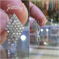 Anting Berlian Eropa Natural Diamond Ring Emas putih 40%
