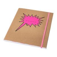 IKEA SARSKILD Buku Tulis 20x24 Cm, Pink, 60 Halaman Bergaris