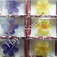 Jual Souvenir Bros Bunga Mawar Kecil B + Kemasan Box Mika Murah