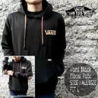 Grosir Jaket Pria / Sweater Pria / Jaket sweater Vans Elbow Black