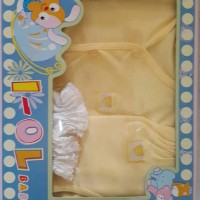 pakaian bayi set new born yellow merk i-ol