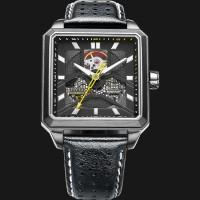 harga Fiyta Men Extreme Roadster Automatic Watch Black Leather Ga866001.hbb Tokopedia.com