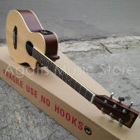 Gitar Junior APX mini AW1 berkualitas Akustik elektrik phase