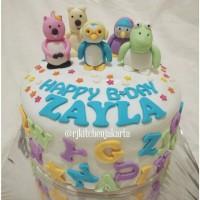 Kue Ulang Tahun Pororo and Friends/Pororo and Friends Birthday Cake