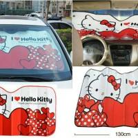 Penutup Kaca Mobil / Sunscreen Mobil Hello Kitty