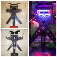 dudukan Plat (tail tidy +lampu led)rep Rizoma ER6/ER6N/ZX6/Z800/Z1000
