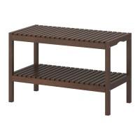 IKEA MOLGER Bangku 79x37x50 cm, cokelat tua