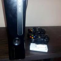 Microsoft Xbox 360 Hitam Slim 250GB Mulus