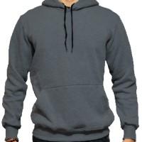 Jaket Hoodie Jumper Sweater Polos Abu Mist6y Tua Kualitas Distro