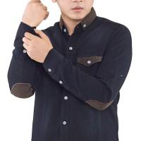 kemeja pria jeans lengan panjang casual formal distro terbaru keren
