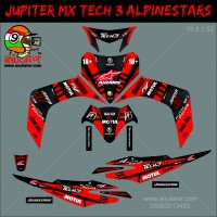 Sticker striping motor stiker Yamaha Jupiter MX Red Monster SPEC B