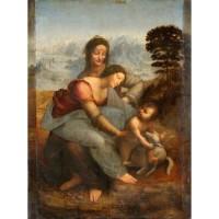 Lukisan The Virgin and Child with St. Anne, Leonardo da Vinci (1513)