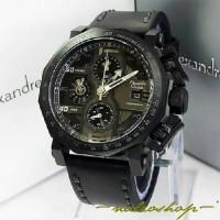 Jam Tangan Alexandre Christie Pria AC 6373 Full Black Original