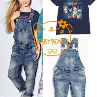 GIRLSET JEANS OVERALL BABY BEARS