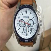 Fossil Coachman Ch2986 Silver Withe