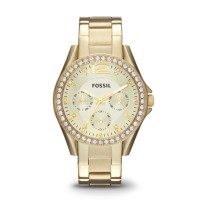 Fossil ES3203 - Riley Multifunction Gold-Tone Stainless Steel Watch