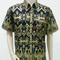 harga Kemeja / Hem / Atasan / Baju / Seragam Pria Batik 1462 Hitam Big Size Tokopedia.com