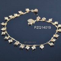 Gelang kaki emas hati PZQ14019