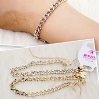 Gelang Rantai Xuping Jewelry Kombinasi Warna Rantai Gram Gold Silver