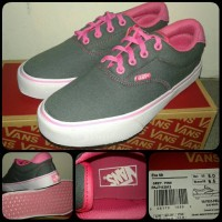 sepatu vans era 59 grey pink for woman
