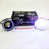 Foglamp Angel Eyes Projector Universal Blue 89mm