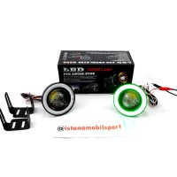Foglamp Angel Eyes Projector Universal Green 89mm