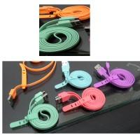 Kabel Charger Vivan Mirco USB Warna Warni 1 Meter - Gepeng / CSM100