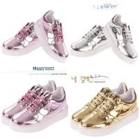 harga Sepatu Kets Sneakers Wanita Glossy Silver Gold Pink Import Tokopedia.com