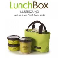 Lock N Lock Lunch Box - 3 Box dengan Tas