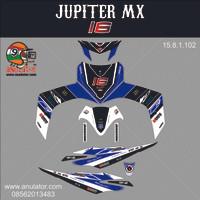 Sticker striping motor stiker Yamaha Jupiter MX Lorenzo 16 SPEC B