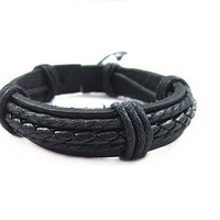 PU Leather High Quality Cool Leather Bracelet Men Casual Style