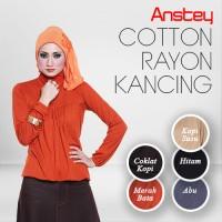 Atasan Cotton Rayon Model KANCING, Size M/L, ANSTEY