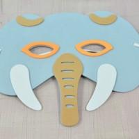 Foam Craft - Elephant Mask Party 04 / Topeng Pesta Gajah