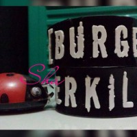 Gelang Karet Custom 2cm Burgerkill