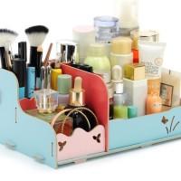 Rak Kosmetik Kayu / Rak Organizer Kosmetik Desktop Storage - RAH125
